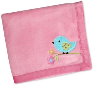 NoJo Love Birds Blanket with Velboa Border Bedding