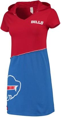 Buffalo David Bitton Unbranded Women's Refried Tees Red/Royal Bills Hooded V-Neck Mini Dress