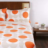 Orla Kiely Big Spot Shadow Flower Print Duvet Cover - Clay - King