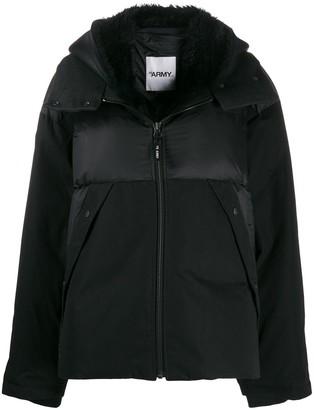 Yves Salomon Faux Fur Trimmed Jacket