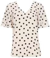 Wallis Cream Spot Double Sleeve Top
