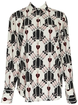 Valentino Love Blades Button Front Blouse