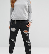 Alice & You Star Embellished Boyfriend Jeans