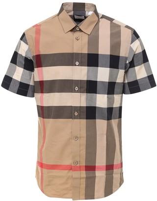 Burberry Tartan Motif Short-Sleeve Shirt