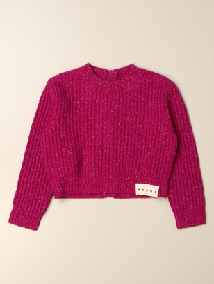 Marni Crew Neck Sweater With Buttons