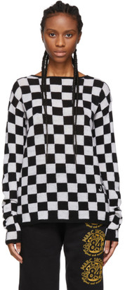 Marc Jacobs Black and White Wool Checkered Sweater