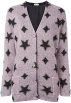 Saint Laurent oversized star jacquard cardigan