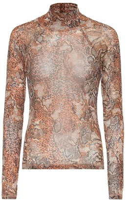 Nanushka Madi snake-printed turtleneck top