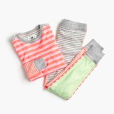 J.Crew Girls' pajama set in bright stripes