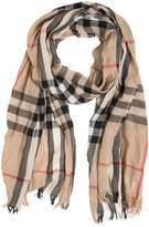 Burberry Check Printed Wool & Cashmere Scarf