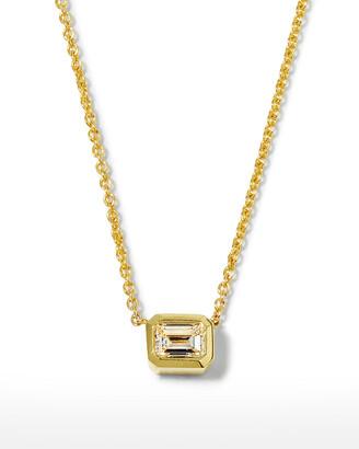 Roberto Coin 18k Emerald-Cut Diamond Pendant Necklace