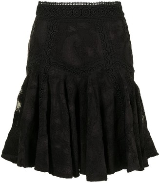 Acler Godson lace flared skirt