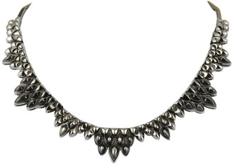 Stephen Webster Superstud Silver and Black Rhodium Black Mother of Pearl Inlay Collar Necklace
