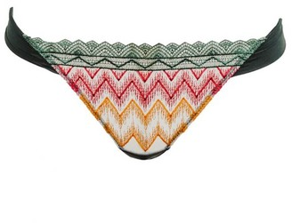 Chite' Thong Embroidered Tulle - Rainbow
