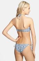 Volcom 'Sister Tribe' Smocked Front Cheeky Bikini Bottoms