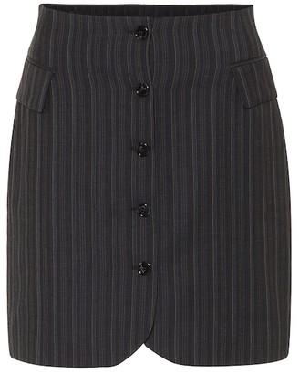 Acne Studios Striped high-rise wool skirt