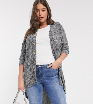 Junarose ribbed button front cardigan
