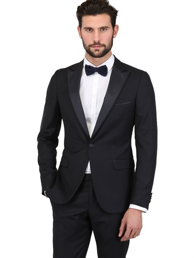 Z Zegna Structured Wool Tuxedo Suit