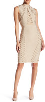 Wow Couture Lace-Up Bandage Dress