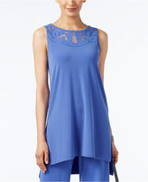 Alfani Petite Illusion High-Low Tunic, Only at Macy's