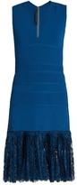 Elie Saab Lace-hem sleeveless dress