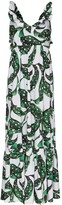 Borgo de Nor Liya foliate print maxi dress