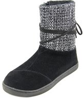 Toms Nepal Boots Black Suede With Metallic Wool 12