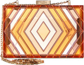 Valentino Native Couture Acrylic Box Clutch