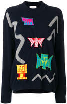 Peter Pilotto intarsia knit sweater