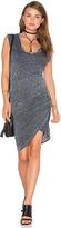 Pam & Gela Scoop Neck Ruched Dress