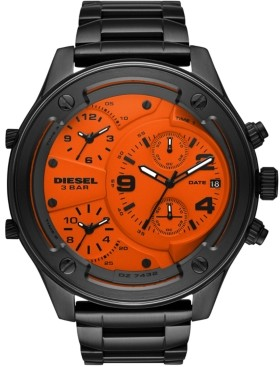Diesel Men's Chronograph Boltdown Gunmetal Stainless Steel Bracelet Watch 56mm