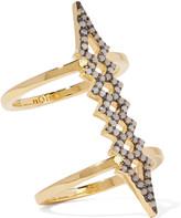 Noir Herron gold-plated opal ring