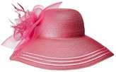 San Diego Hat Company DRS1025 Poly Braid w/ Mesh Feathers (Hot Pink) Caps