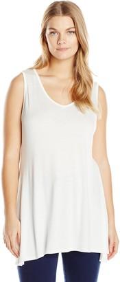 Star Vixen Women's Plus-Size Sleeveless V-Neck Comfy Knit Tunic Top