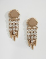 Asos Jewel Drop Spike Earrings