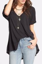 Free People Burnout V Neck Tee