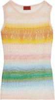Missoni Crochet-knit tank top