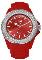 Haurex H2X Women's SS382DR1 Reef Stones Luminous Water Resistant Red Soft Rubber Watch