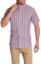 Zachary Prell Bean Plaid Short Sleeve Slim Fit Shirt