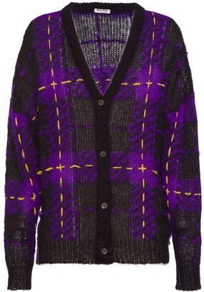 Miu Miu Tartan Knit Cardigan