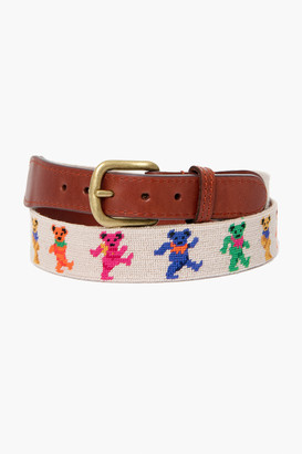 Smathers and Branson Oatmeal Dancing Bears Needlepoint Belt