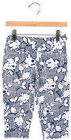 Oscar de la Renta Girls' Printed Straight-Leg Pants