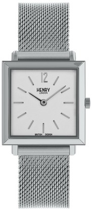 Henry London Unisex Adult Analogue Classic Quartz Watch with Stainless Steel Strap HL26-QM-0265