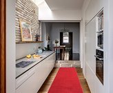 """Ottomanson Ottohome Collection Carpet Aisle Solid Hallway Kitchen Runner Rug with Non-Skid (Non-Slip) Rubber Backing, 20"""" x 59"""", Red"""