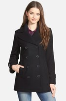 Kristen Blake Women's Wool Blend Peacoat