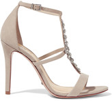 Schutz Embellished nubuck sandals