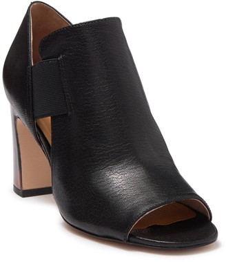 Corso Como Maybel Leather Block Heel Peep Toe Bootie