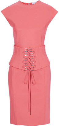 Thierry Mugler Belted Stretch-ponte Dress
