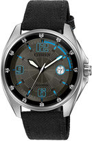 Citizen Drive from Eco-Drive WDR Mens Black Nylon Strap Watch AW1510-03H
