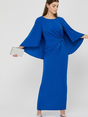 Monsoon Cara Cape Maxi Dress - Blue